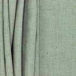 Meubelstof met linnen aspect - grijsgroen