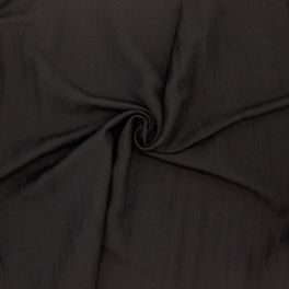 Crêpe fabric in viscose - black