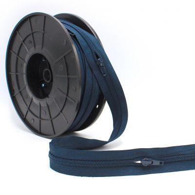 Rits n° 5 per meter - marineblauw