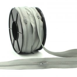 Zipper by meter - grey