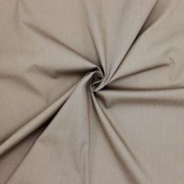 Popeline de coton- taupe