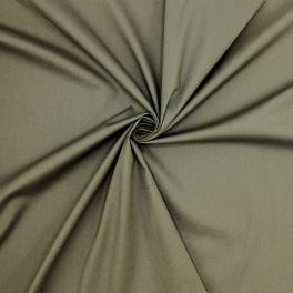 Tissu coton extensible - kaki