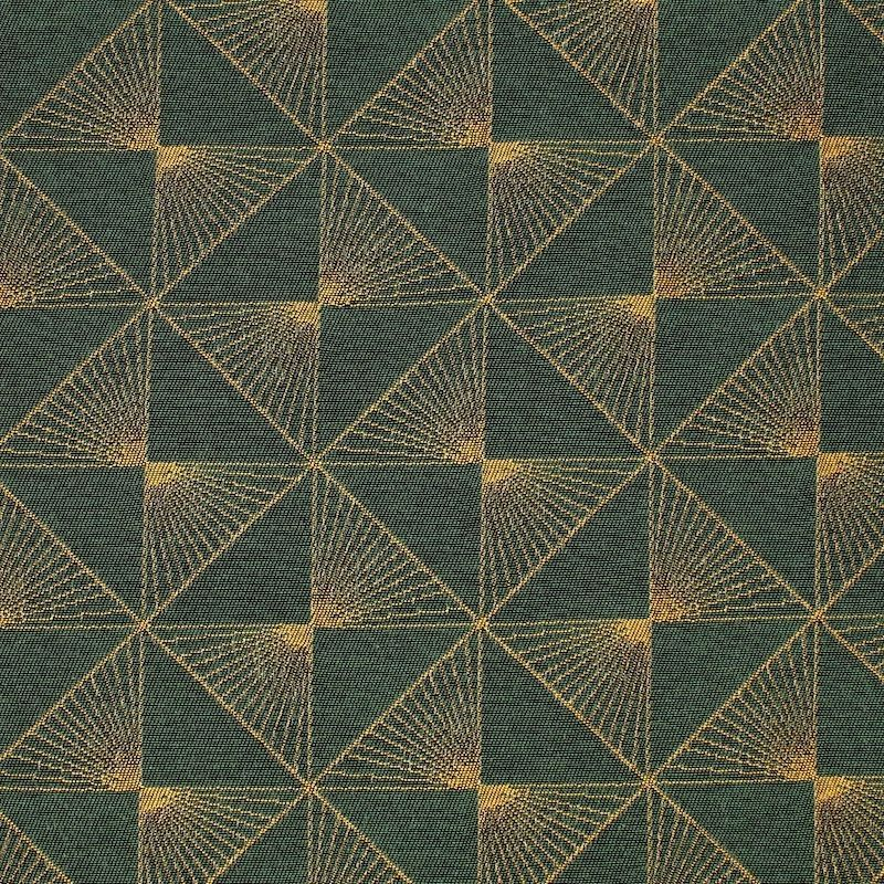 Jacquardstof met gouden motief -  groen