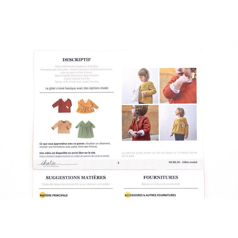 Pattern crossed vest or dress Dublin