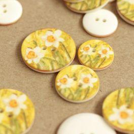 Bouton à fleurs jaunes