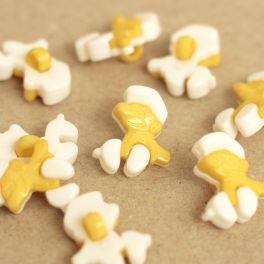 Smurf knoop - geel