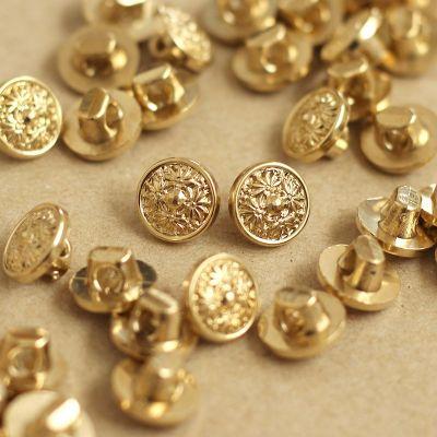 Boutons vintage aspect métal doré