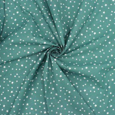 Tissu coton étoile - vert pin