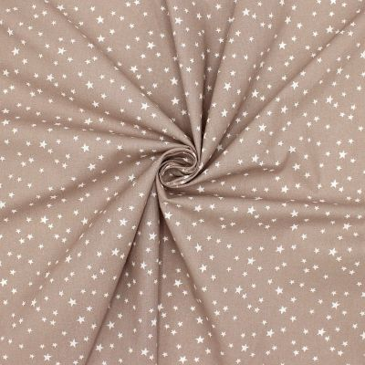 Cotton with stars - taupe