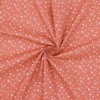 Tissu coton étoile - marsala