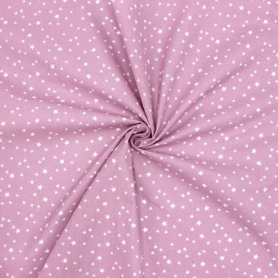 Cotton with stars - violet