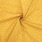 Tissu coton étoile - moutarde