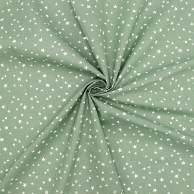 Tissu coton étoile - mousse
