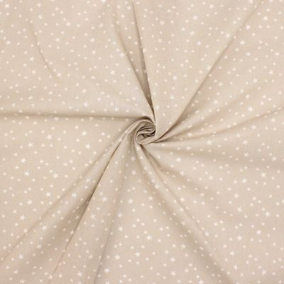 Cotton with stars - beige