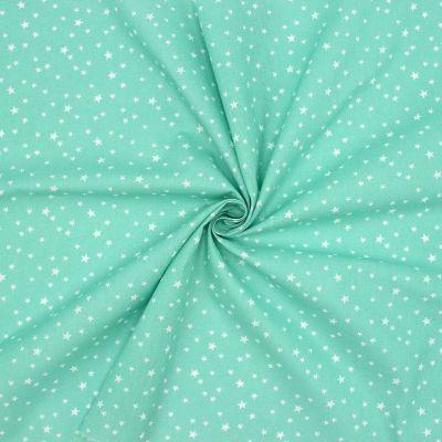Katoen met sterren - opaal groen