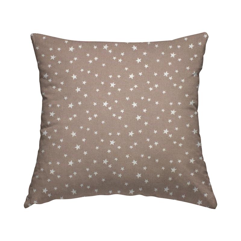 Tissu coton étoile - taupe