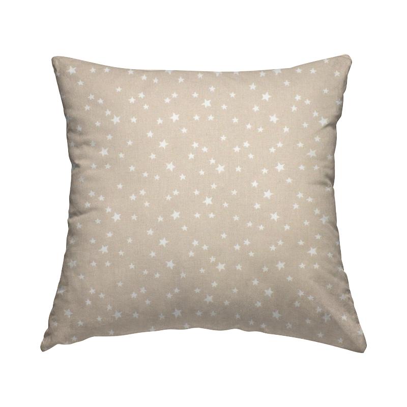 Tissu coton étoile - beige