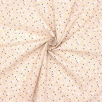 Tissu coton pois multicolores - rose