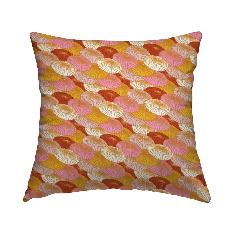 Tissu coton ombrelle  - rose et rouge