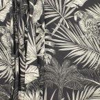 Tissu ameublement perroquet - noir