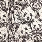 Tissu ameublement panda - noir