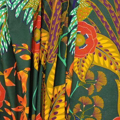 Tissu ameublement coton fleur - multicolores