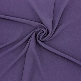 Polyester fabric with crêpe aspect - purple