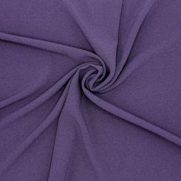 Tissu polyester aspect crêpe - violet