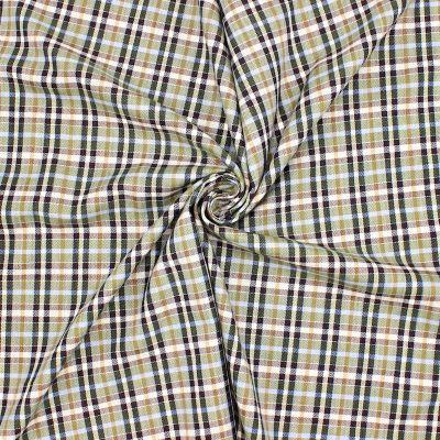 Tissu jacquard à carreaux - beige/vert