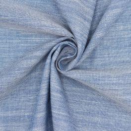Tissu coton effet flammé - bleu