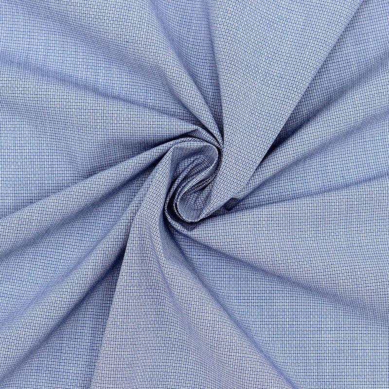 Tissu jacquard en coton - bleu