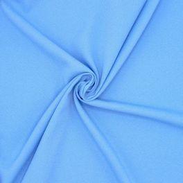 Stof met crêpe aspect - blauw