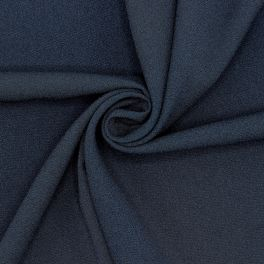 Fabric with crêpe aspect - navy blue