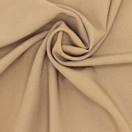 Plain polyester fabric - coffee with milk