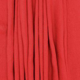 Tissu en 100% lin lavé uni rouge