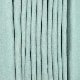 100% washed linen fabric - plain sage green