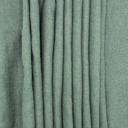 Tissu en 100% lin lavé uni vert pin