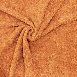 Tissu éponge hydrophile 100% coton camel