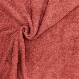 Tissu éponge hydrophile 100% coton sienne