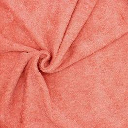 Tissu éponge hydrophile 100% coton rose blush