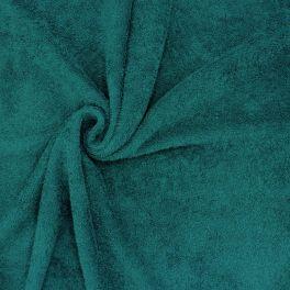 Tissu éponge hydrophile 100% coton émeraude