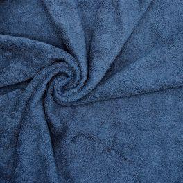Tissu éponge hydrophile 100% coton pétrole