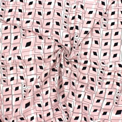 Poplin of cotton with graphic print - pink