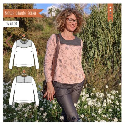 Pattern blouse woman grande Sophie