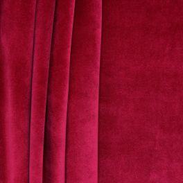Velvet upholstery fabric - tomette red