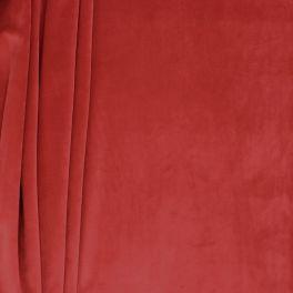 Tissu d'ameublement velours tomette