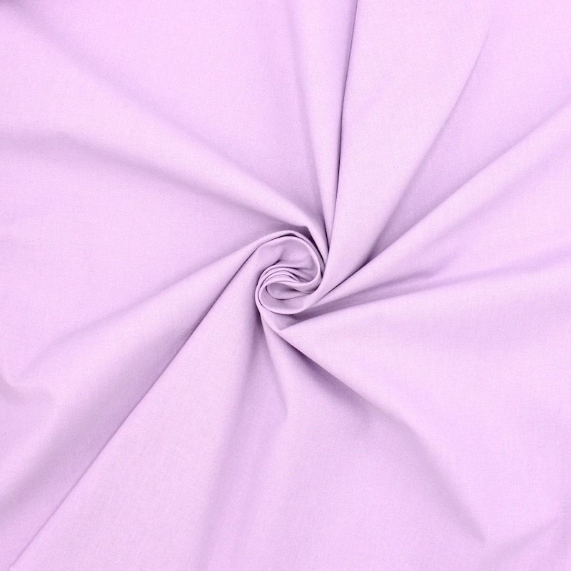 Cretonne fabric - plain light lila
