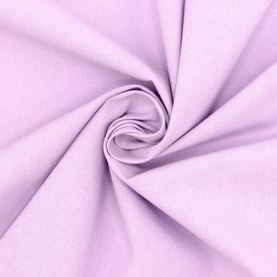 Tissu cretonne uni lilas clair