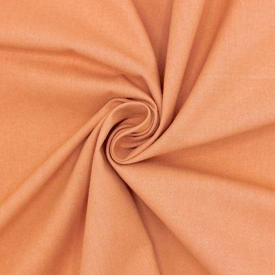 Tissu cretonne uni cassonade
