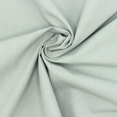 Tissu cretonne uni vert de gris